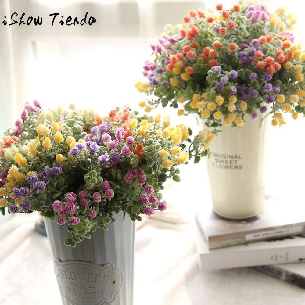 Artificial Fake Flowers Milan Yangmei Floral Wedding Bouquet Home Decor Hochzeit Dekoration #P
