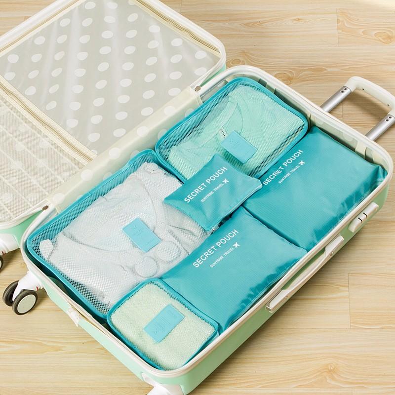 - HTB1SiiaOXXXXXX1aFXXq6xXFXXXD - 6-Pieces Travel Bag Organizer Set.