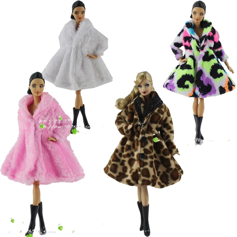 Image 2 - 15 Type High Quality Fashion Handmade Clothes Dresses Grows Outfit Flannel coat for Barbie Doll dress for girls best gift-in Dolls Accessories from Toys & Hobbies