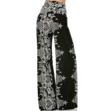 Floral Printing High Waist Loose Wide Leg Palazzo Pants Dance Trousers Ladies Clothes 2019 Plus Size Women Pants недорого