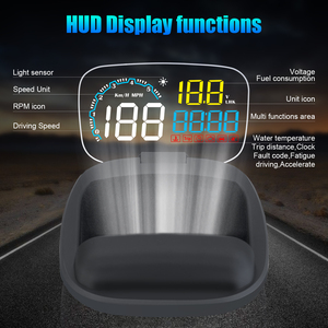 Image 2 - Nieuwe Auto HUD Head Up Display OBD 2 II On board Auto Computer C600 Digitale Snelheidsmeter OBD2 Projector rijden Brandstofverbruik