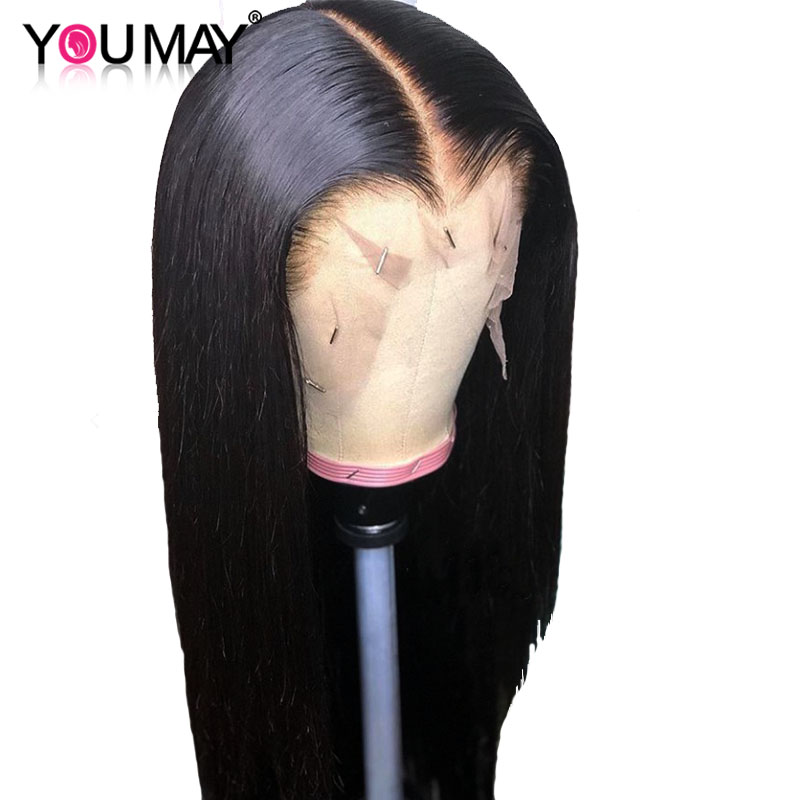 Fake Scalp 13X6 Lace Front Wigs For Women 180 Density Brazilian Straight Lace Front Human Hair Wigs Pre Pluck You May Remy Wigs