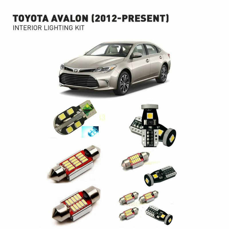 Led interior lights For Toyota avalon 2012+  13pc Led Lights For Cars lighting kit automotive bulbs Canbus