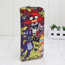 Five Nights at Freddy's FNAF PU сумка-кошелек 19,5 см * 9,5 см(China)