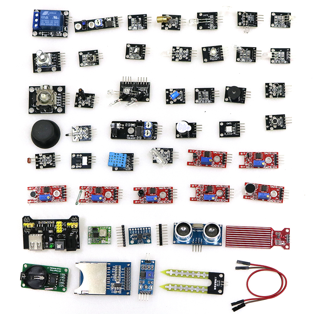 45 In 1 Sensors Modules Starter Kit Better Than 37in1 Sensor Kit 37 In 1 for arduino Diy Sensor Kit цены