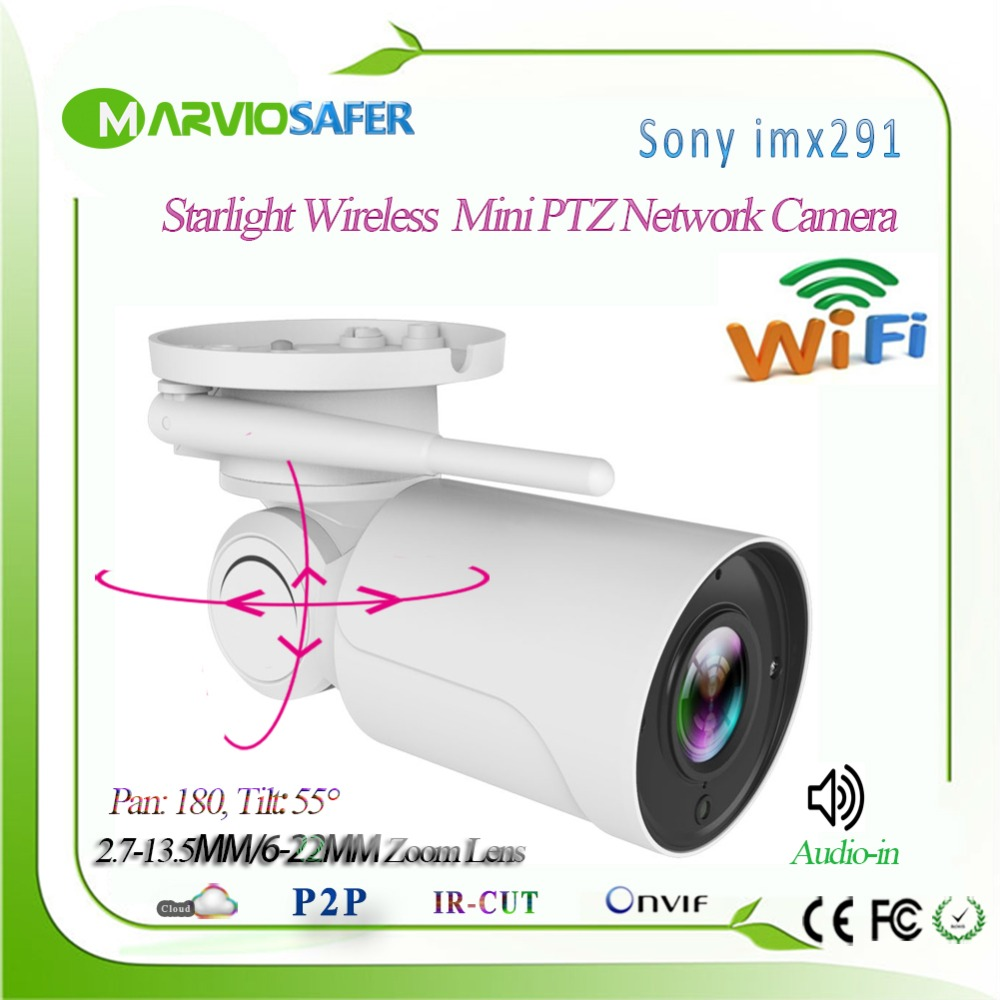 Hi3516C Sony IMX291 Audio Starvis 5X Zoom Wireless wifi IP PTZ Network Camera Outdoor CCTV Security