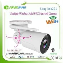 Hi3516C + Sony IMX291 de Audio Starvis 5X Zoom wifi inalámbrico IP PTZ cámara de red de circuito cerrado de televisión al aire libre cámara de seguridad 2,7 13,5mm de la lente de onvif