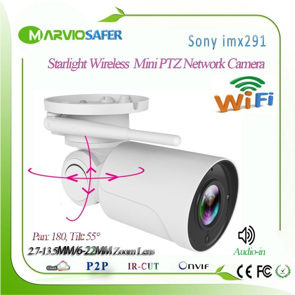 Hi3516C + Sony imx291 аудио Starvis 5X зум Беспроводной Wi-Fi IP PTZ сетевая камера наружного видеонаблюдения Безопасности Cam 13,5-2,7 мм объектив onvif