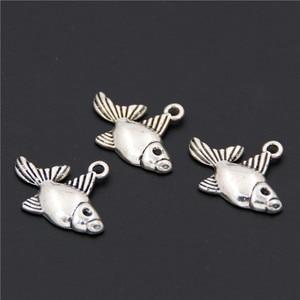 20 шт. мини Подвески из сплава, яркие тропические украшения в виде рыб, ручной браслет, аксессуары для подвески A2538