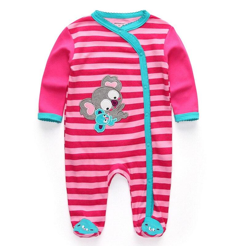 Для маленьких девочек сна; одежда для сна с мультяшным рисунком для малышей Детские пижамы хлопок Длинные рукава Детские пижамы с надписью «i love daddy» детские комбинезоны с рисунками - Цвет: baby girl77