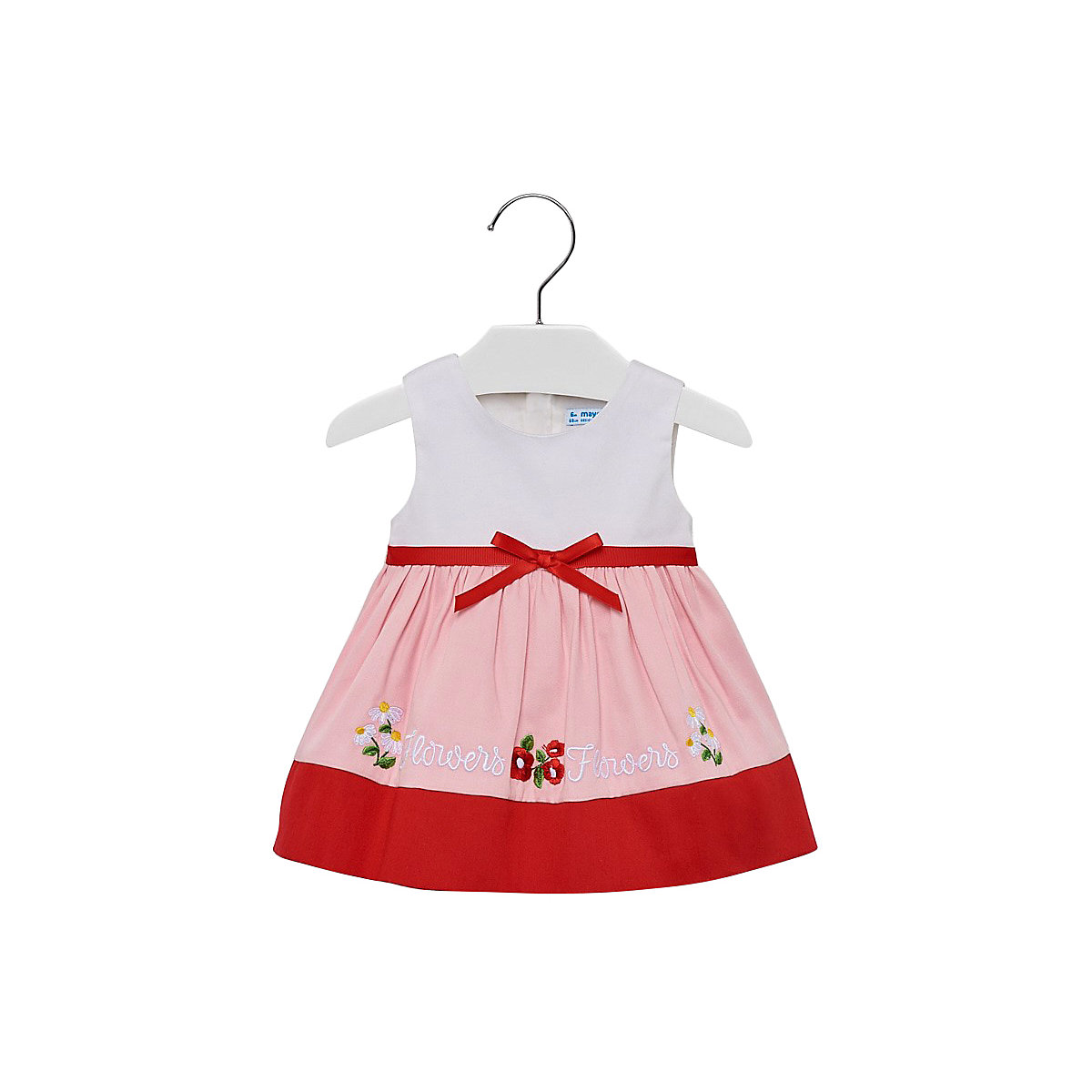 MAYORAL Dresses 10689178 Girl Children fitted pleated skirt Red Cotton Casual Print Knee-Length Sleeveless Sleeve foliage print pleated skirt