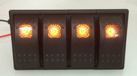 4 LED color Bar Rocker Switch panel ARB Carling Style Type 3 PINS DC 12V 24V with clip holder