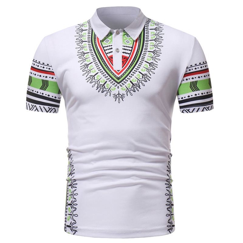 White Dashiki Men's   Polo   Shirt 2018 Summer Brand African   Polo   Shirt Men Casual Slim Fit Camisa   Polo   Masculina Cotton Top Tees