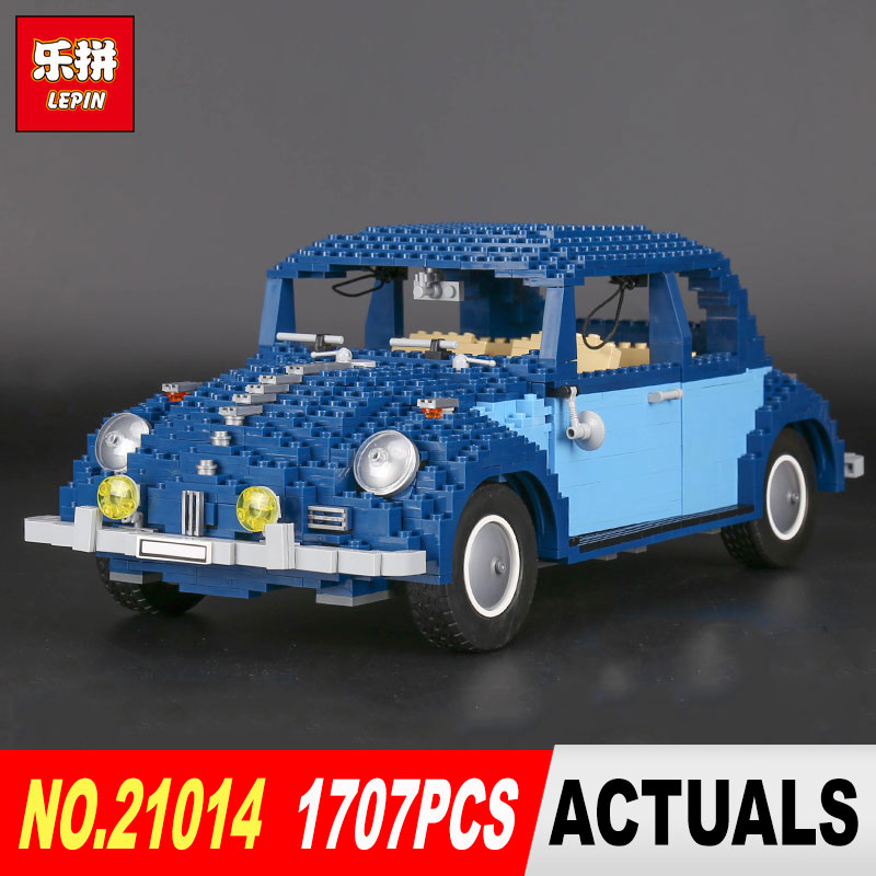 LEPIN 21014 1707Pcs the Classic Beetle Model car Building Kits Blocks Bricks Model for Children Christmas Toys 10187 1707pcs new lepin 21014 classic beetle model car building kits blocks bricks for children christmas gifts legoinglys 10187