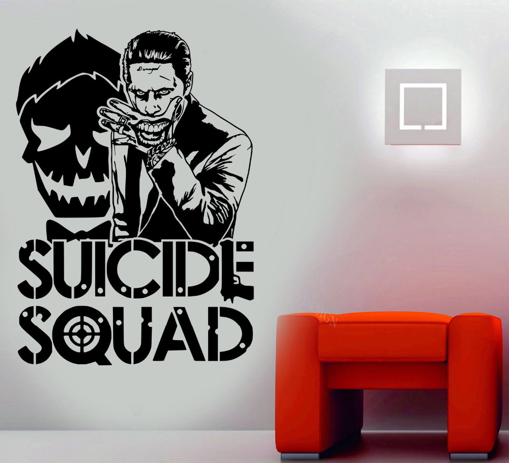 Joker Suicide Squad Wandkunst Aufkleber Modedesign Wandaufkleber für - Wohnkultur - Foto 2