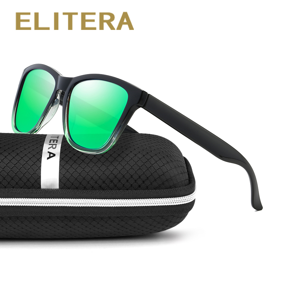 Gafas de sol ELITERA Mujer Polarized Square Ladies Gafas de sol Gafas de sol de mujer Gafas de sol Feminino Shades With Case UV400