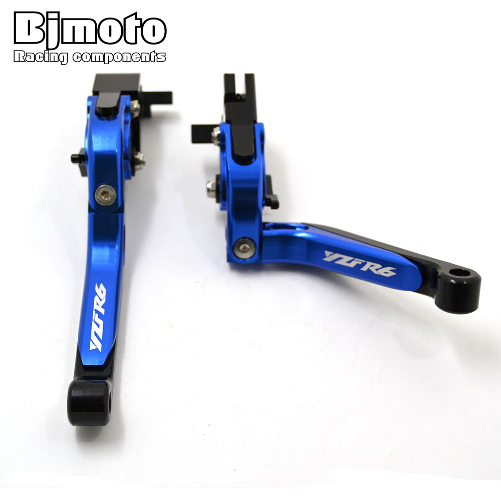 BJMOTO For Yamaha YZF R6 2005-2016 R6S 2006 Motorbike CNC Adjustable Foldable Extendable Brake Clutch Levers Motorcycle for yamaha cnc adjustable foldable extendable motorbike brakes clutch levers for yamaha r6 yzf r6 yfz r6 2005 2016 yfzr6 logo