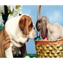 Yikee Алмазная картина полная дрель вышивка собаки полностью