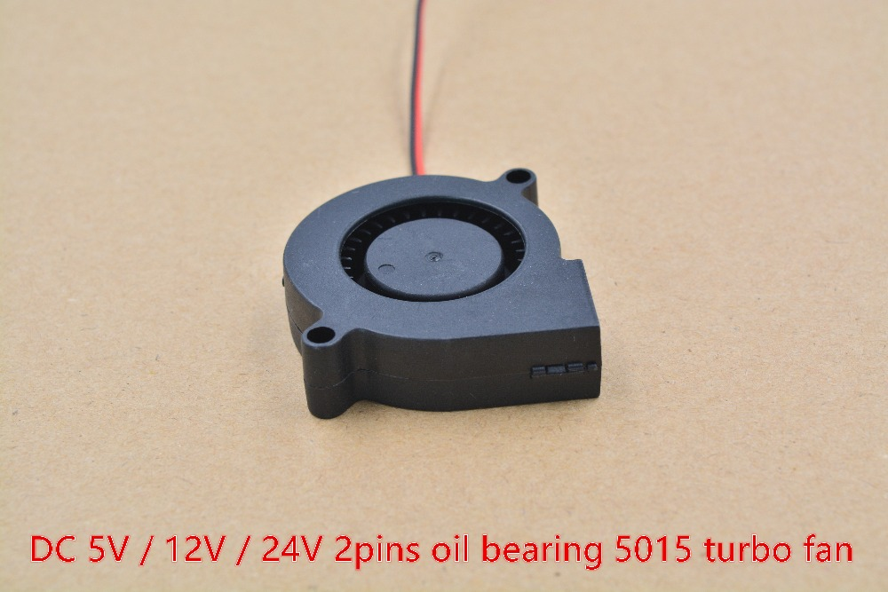 5015 fan 5V / 12V / 24V 2pin turbo fan humidifier centrifugal fan projector blower centrifugal fan 1pcs hot sale dc12v 2 7a turbo blower fan 3 wire air volume large barbecue stove centrifugal for bbq cooking cooler fan