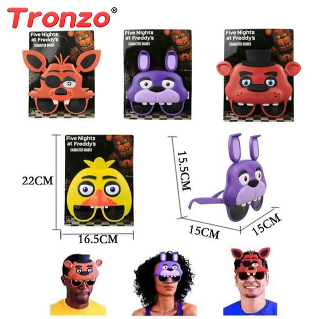 tronzo fnaf toys five nights at freddy sunglasses mask 15cm halloween costume party spoof wig cap