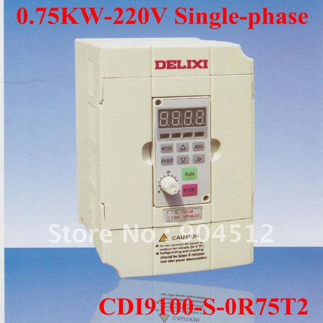 Wholesale DELIXI Frequency Inverter CDI9100-S-0R75T2 General Type 0.75kw 220v Single Phase Frequency Converter
