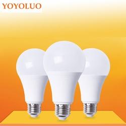 6 E27 AC110V pçs/lote CONDUZIU a Lâmpada 220V Lâmpada LED led Light bulb poder Real 3W 5W 7W 9W 12W 15W Fria Warm White Lampada Levou Bombillas