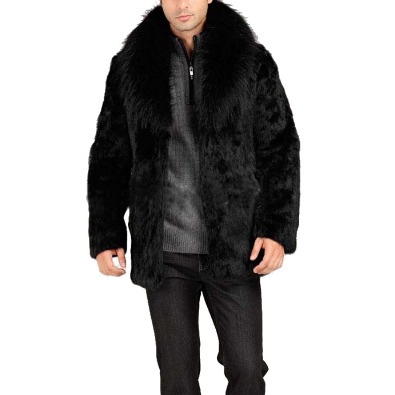 Negro Alta Artificial Unisex Abrigo Calidad Invierno Hombres Cuero Otoño Moda De Chaqueta Los Piel Caliente 0P6g5wqw