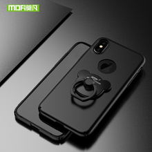 Luxury iphone X case aluminium 360 hard protector with ring