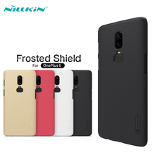 Case For OnePlus 6 Back Cover NILLKIN Super Frosted Shield Hard PC Cases For One Plus 6 A6000 Phone Back Cover+Screen Protector стоимость