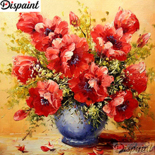 Dispaint Full Square/Round Drill 5D DIY Diamond Painting Floral flower 3D Embroidery Cross Stitch Home Decor A10717