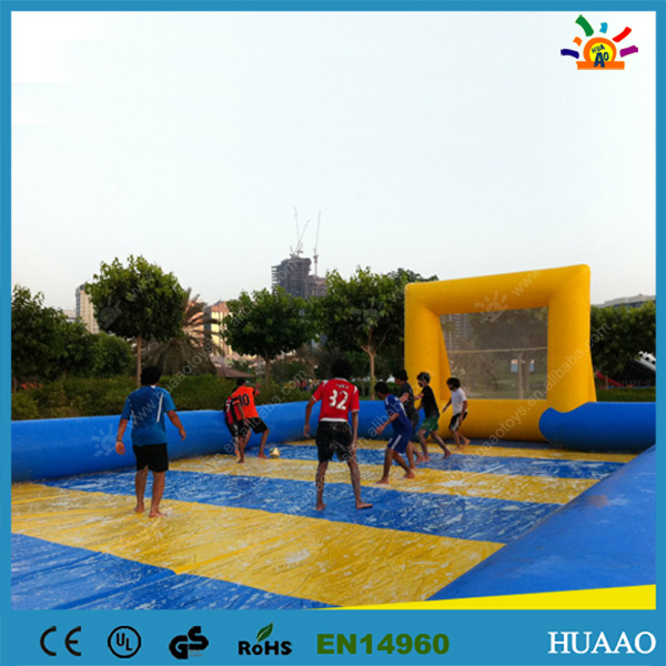 20*10m Commercial inflatable football pitch soup football with free blower and free shipping