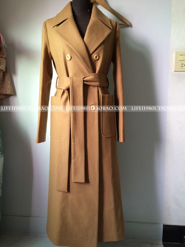 camel Femme 2018 Hiver Femmes Laine gris Classique Maxi Noir En Longue Robe Grande Manteau Casaco Simple Automne Uk Taille Manteaux Feminino Rqx5wg4