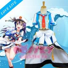Anime Love Live Navy Sailor Suits Uniform Awaken Sonoda Umi Cosplay Costume Free Shipping D