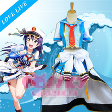 Anime Love Live Navy Sailor Suits Uniform Awaken Sonoda Umi Cosplay Costume Free Shipping D