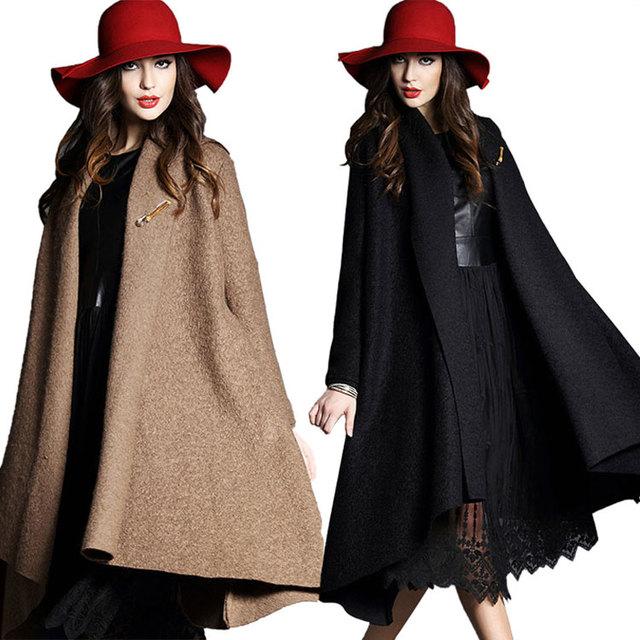 Escudo mujeres largo de lana ropa negra de maternidad embarazadas abrigos chaquetas manteau femme enceinte prendas de vestir exteriores vetements grossesse
