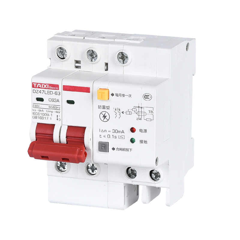 Dz47le Residual Current Circuit Breaker With Surge Protector Rcbo Small Mcb Rccb With Lightning Protection Spd