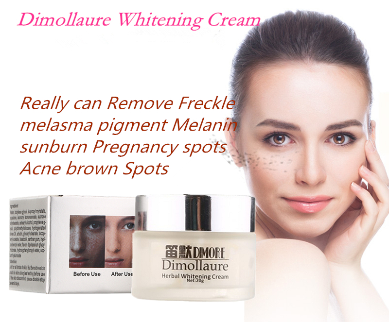 Dimollaure Strong effect whitening cream 20g Remove Freckle melasma Acne Spots