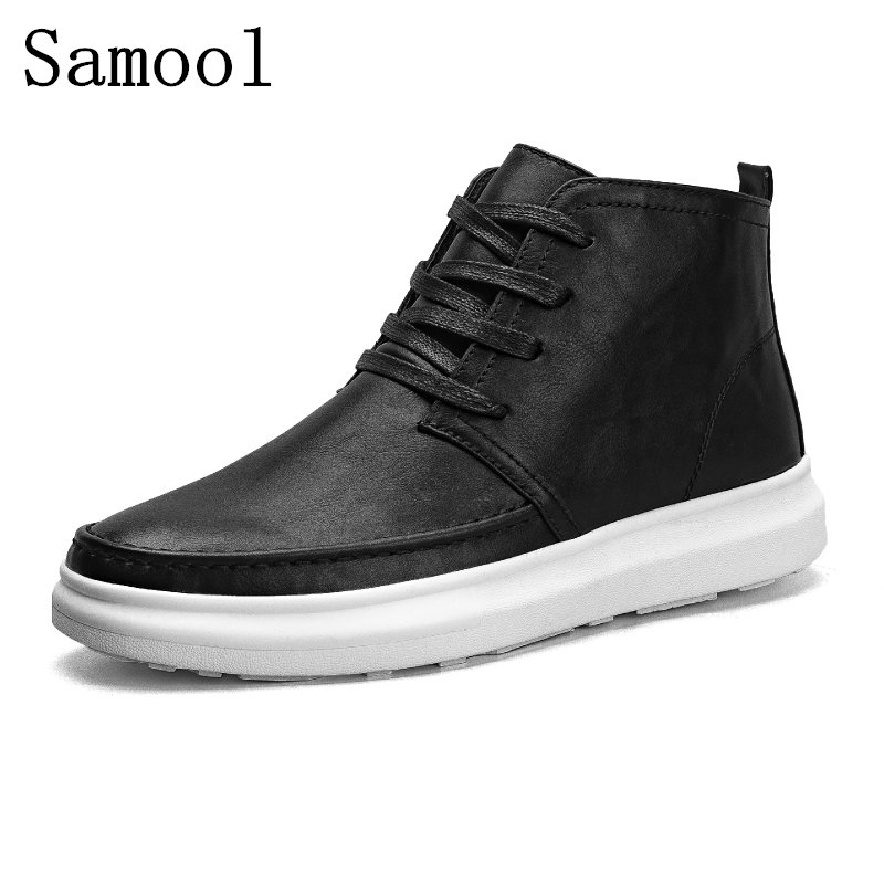 2017 Autumn Fashion High Quality Men's Casual Shoes Breathable Pu Leather Man Lace Up Brand Shoes High Quality Men Outdoor Shoes high quality men casual shoes fashion lace up air mesh shoe men s 2017 autumn design breathable lightweight walking shoes e62