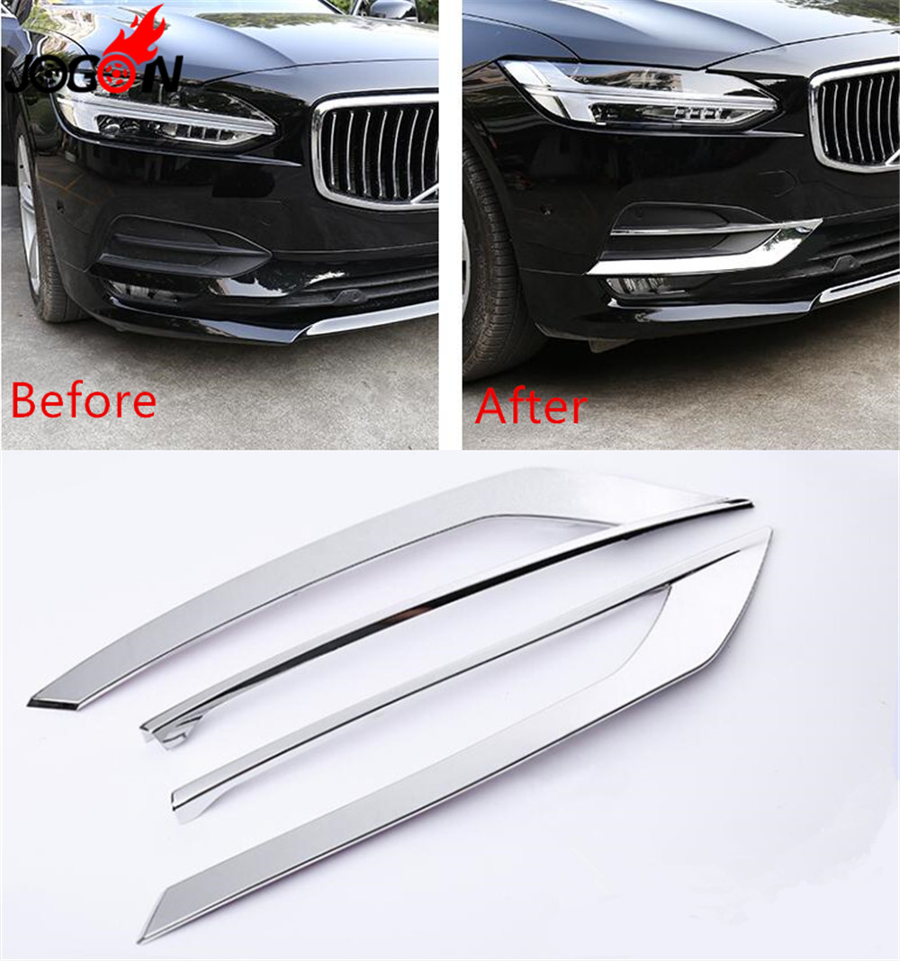 Accessories NEW Front Foglight font b Lamp b font Cover Frame Trim Decoration For Volvo S90