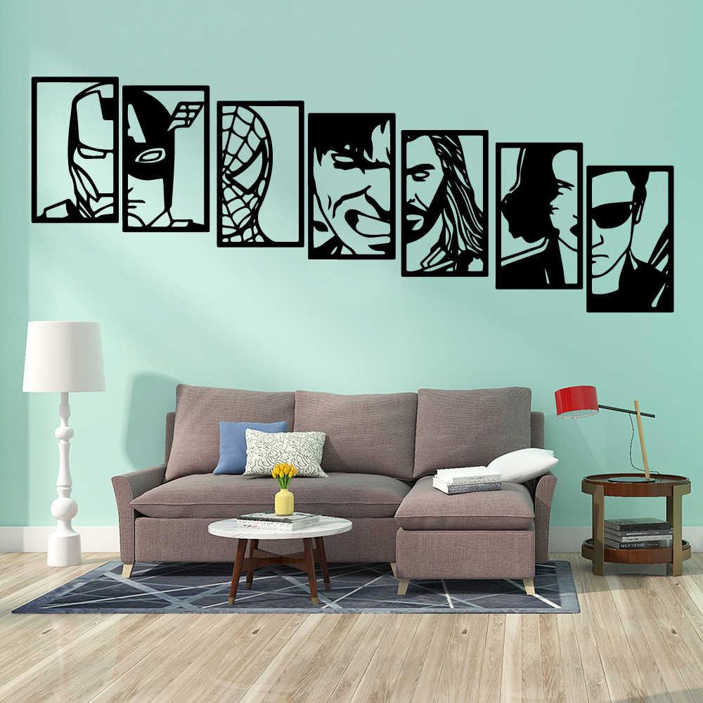 . New Design the Avengers Vinyl Room Wall Stickers Wallpaper For Kids Rooms  Waterproof Living Room Wall Art Decal adesivi murali