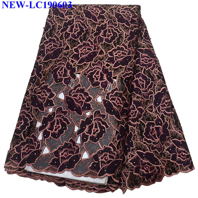 African Organza Lace Fabric High Quality French Lace Fabric With Beads Embroidery Tulle Lace Fabric For