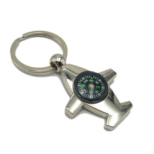 Hot Explosions Creative Aviation Compass Aircraft Key Chain Model Ring Gift Pendant