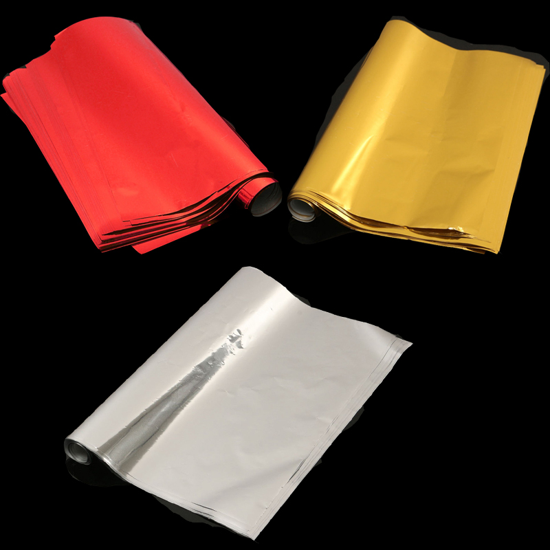 50 sheets a4 gold silver hot stamping transfer foil paper for Silver foil paper craft