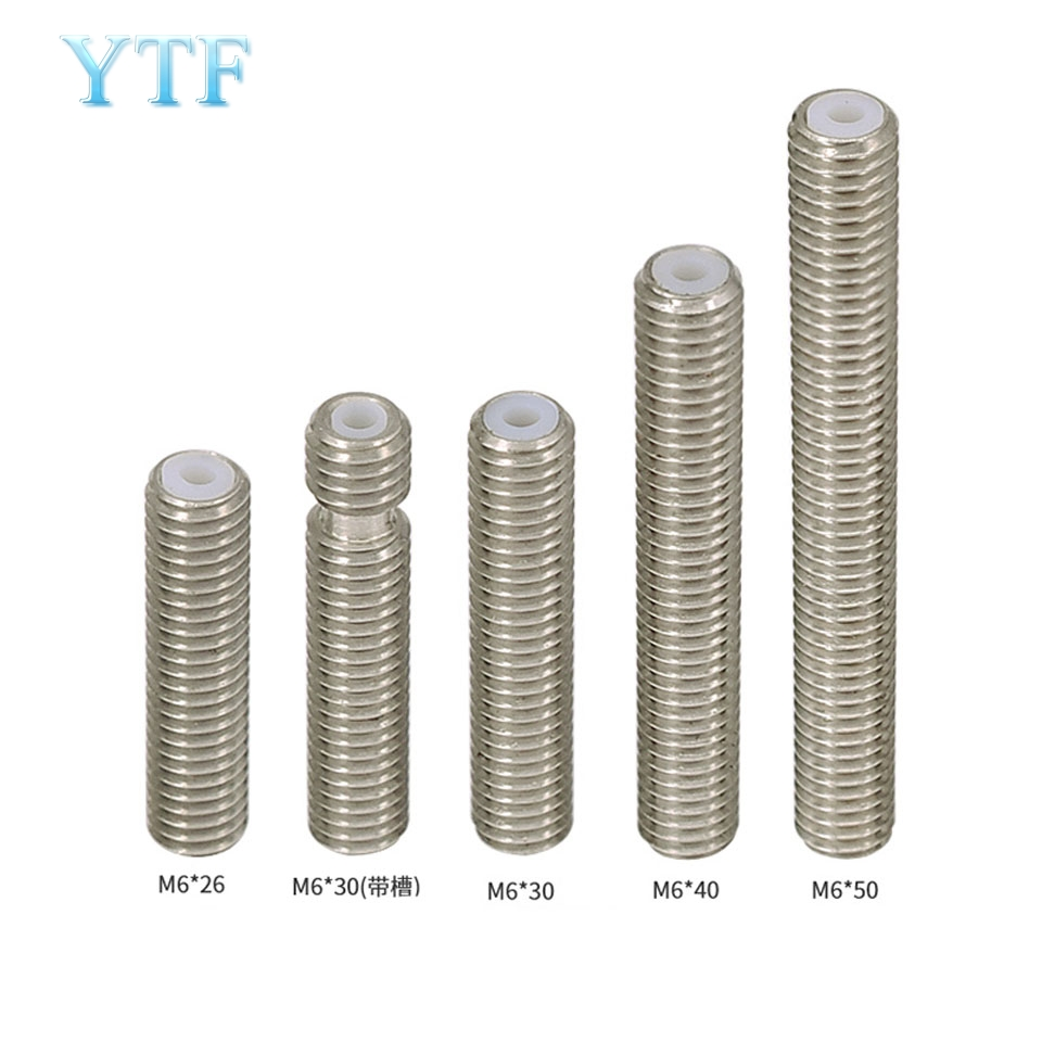 3D Printer Parts Makerbot MK8 M6 1 75mm Filament Stainless Steel Throat PTFE Tube Nozzle Extruder