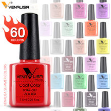 Venalisa Color de las uñas gelpolaco CANNI manicura fábrica nuevos productos 7,5 ml laca de uñas Led y UV remojo de Gel de Color barniz de laca(China)