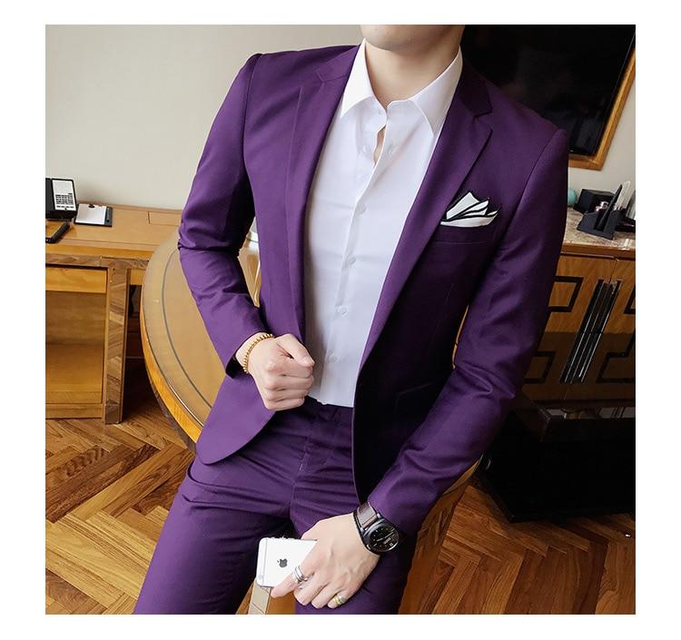 Mens trajes de boda smoking Set Slim Fit Hombre Trajes marca Blazer ...