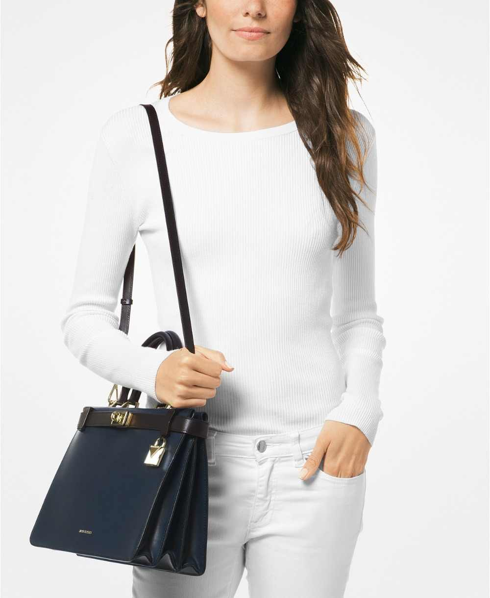 4c4e0f1879c5 ... Michael Kors Tatiana Medium Leather Satchel Luxury Handbags For Women  Bags Designer by MK ...