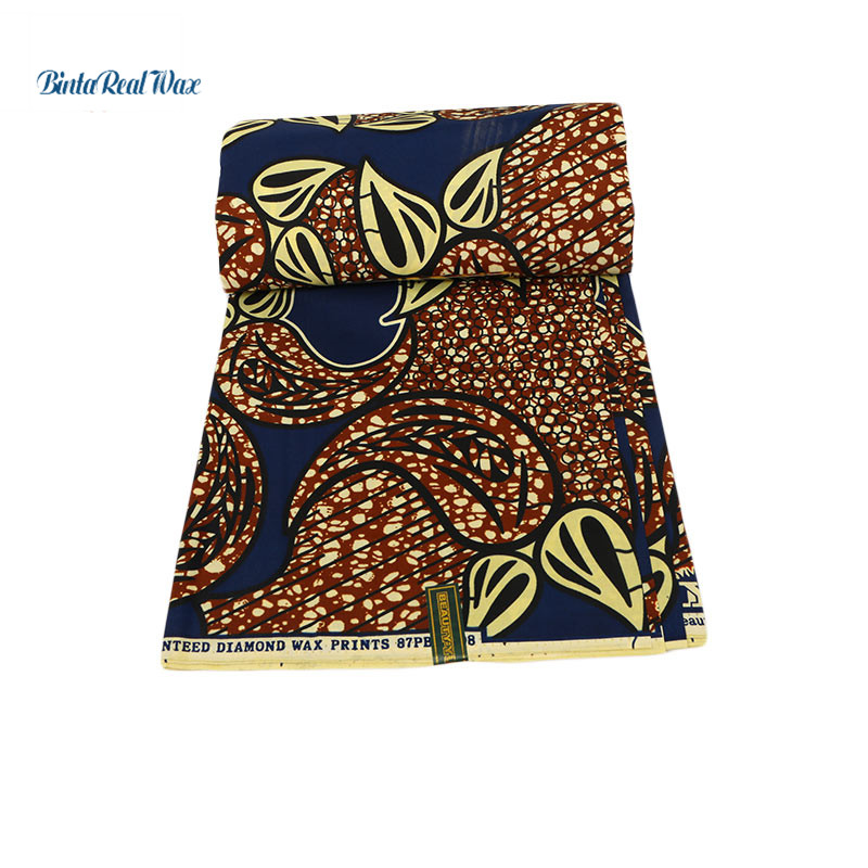 Binta real Wax Prints  100% Polyester Fabric 2019 Ankara Binta Real Wax High Quality African Fabric for Party Dress PL609Binta real Wax Prints  100% Polyester Fabric 2019 Ankara Binta Real Wax High Quality African Fabric for Party Dress PL609