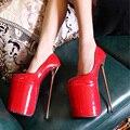 HOT 2016 Moda Dedo Do Pé Redondo Sexy Extrema 23 CM Sapatos de Salto Alto Feminino Bombas À Prova D' Água de Alta-Sapatos de salto alto 4 cor tamanho 35-40
