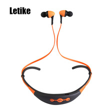 Sale Letike Sport Running Wireless Bluetooth 4.1 Headphones Headset Sweatproof Neckband Bass Noise Isolating Earphones with Mic